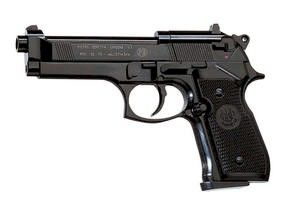 Beretta 92FS Co2 pistol with a black stock.