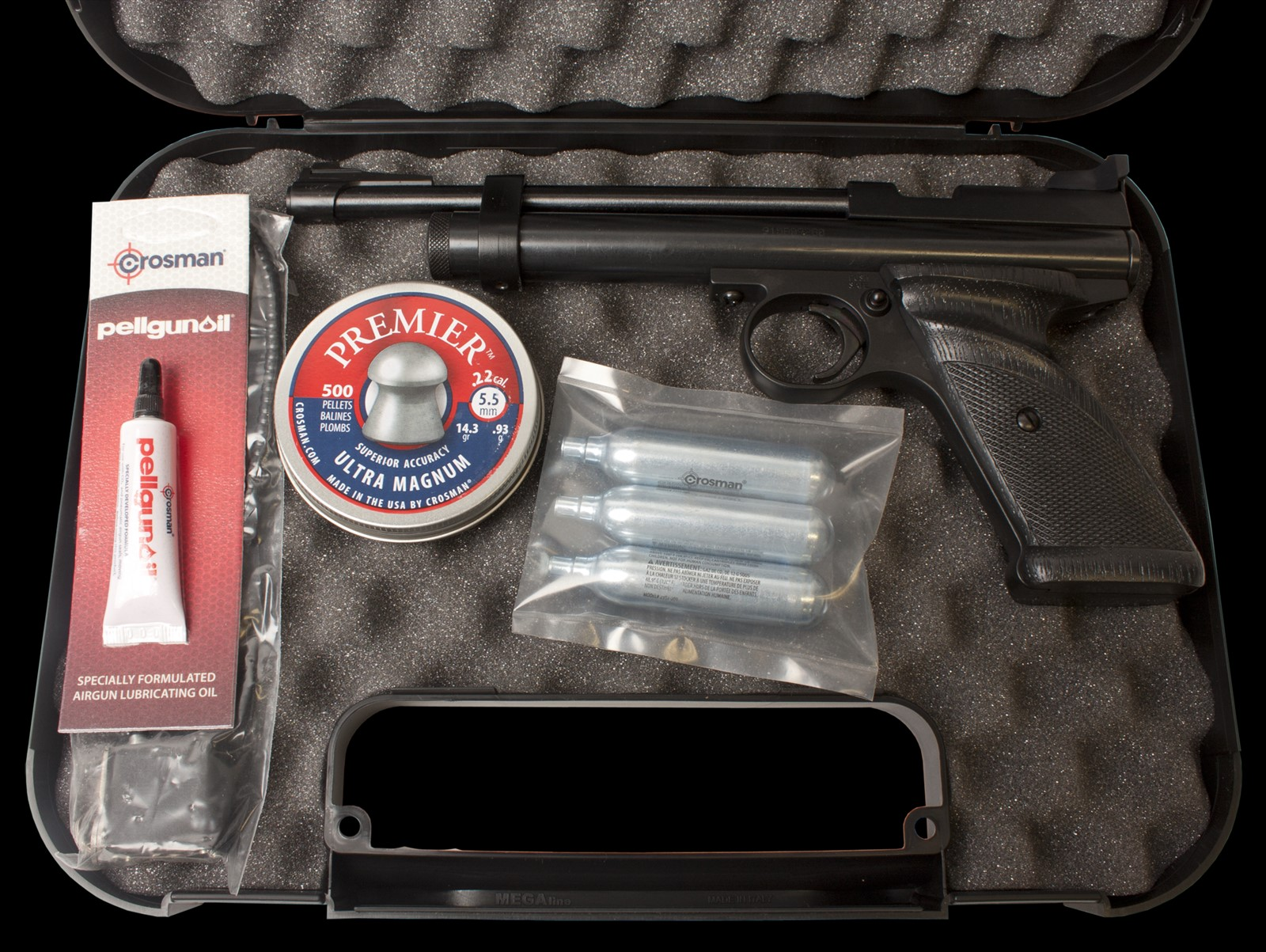 Crosman 2240 starter Kit.
