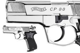 Walther CP88 Polished Chrome Pistol.